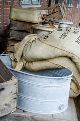 Vintage - Sieve and grain bags