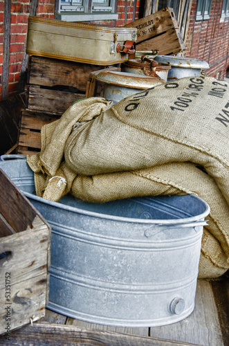 Vintage - Sieve and grain bags - HDR