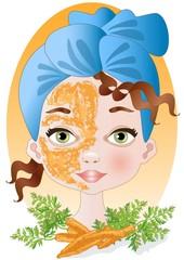 maschera alla carota-carrot mask