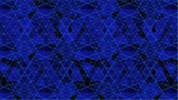 Spider Blue Net Line Geometric Kaleidoscope Animation
