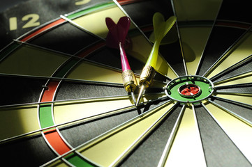 Dart Arrows On The Dartboard