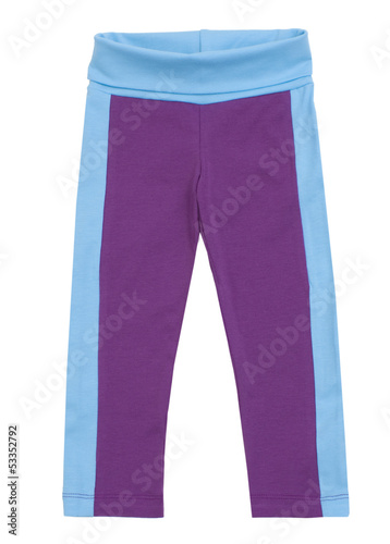 Female sweatpants isolated on a white background