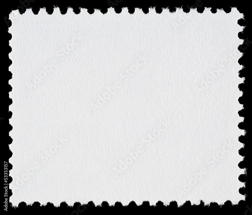 Blank Postage Stamp on Black Background