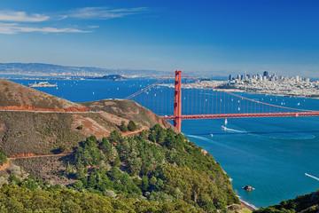 San Francisco Panorama w the Golden Gate bridge