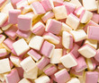Background texture made of many marshmallows