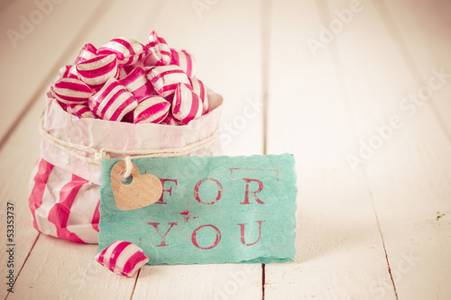 Red and white striped candy For You