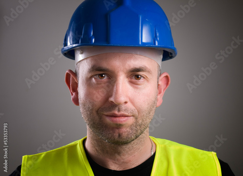 Worker man portrait