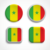 Senegal flag buttons