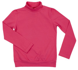 Pink turtleneck. Isolated on a white background.