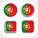 Portugal flag buttons