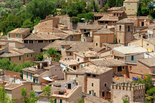 Old village in the middle of Majorca island