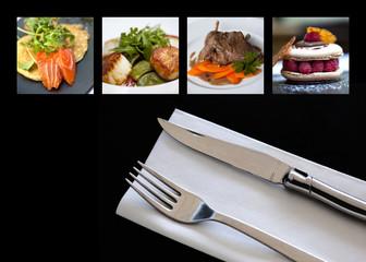 Restaurant, menu, cuisine, dîner, repas, carte, aliment