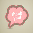 Vector Illustration of a Thank You Speech Bubble