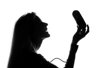 Woman Singing Happy Song