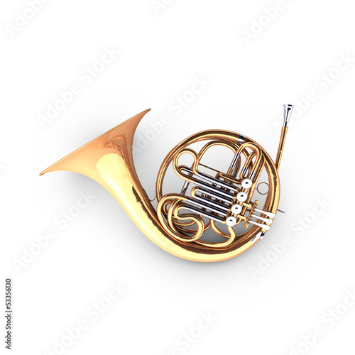 3D french horn cor instrument
