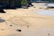 Sand art, Tolcarne Beach, Newquay