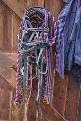 Horse tack ready and waiting