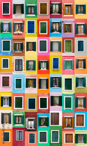 Burano windows, Italy|53358557