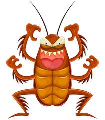 scary cartoon cockroach