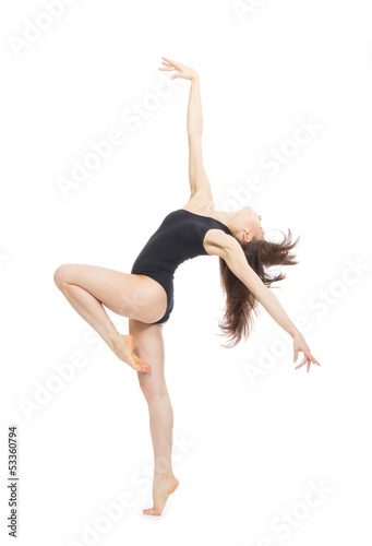 modern contemporary style woman ballet dancer