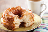 Croissant and doughnut mixture on a dish