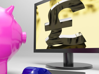 Pound Screen Shows Sterling Money Financing Profit
