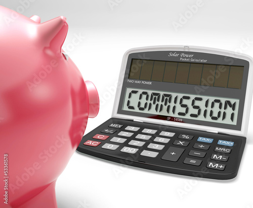 Commission Calculator Shows Bonus, Benefit Or Award