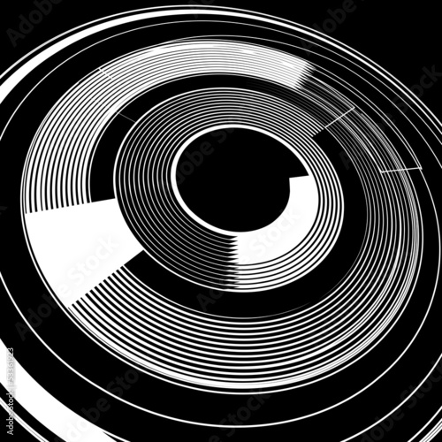 Spiral rotation.  Abstract background. Spiral rotation.