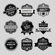Set of premium & quality labels, emblems and stamps