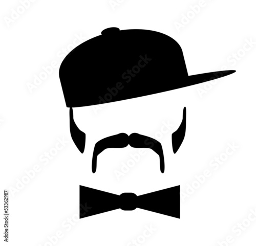 man wearing bow tie and baseball cap