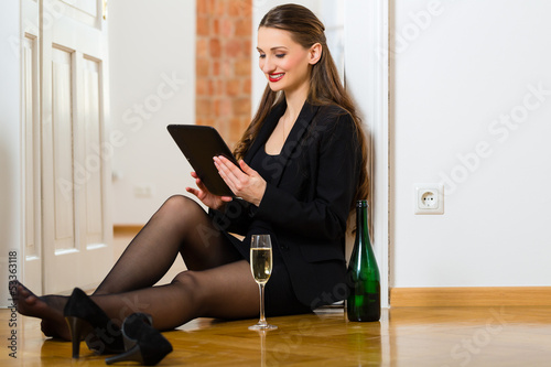 Woman using Internet for online Dating
