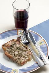 Braciola di maiale al vino bianco