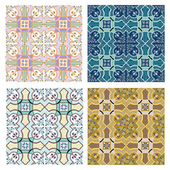 set of 4 seamless vector patterns