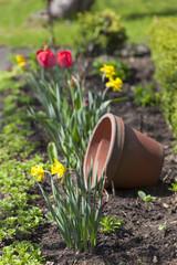 Dekoration im Vorgarten