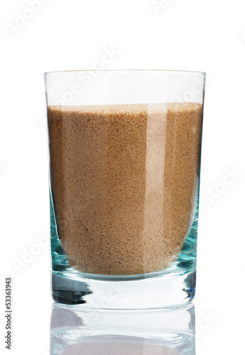 Glass of sand