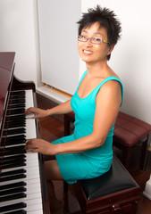 Asian Woman at Piano