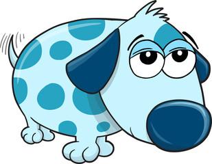 Lazy Puppy Dog Vector Illustration Art