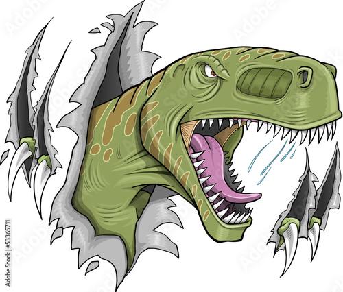 Tyrannosaurus Rex Dinosaur Vector Illustration - 53365711