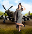 40s military pin up girl. Air force style