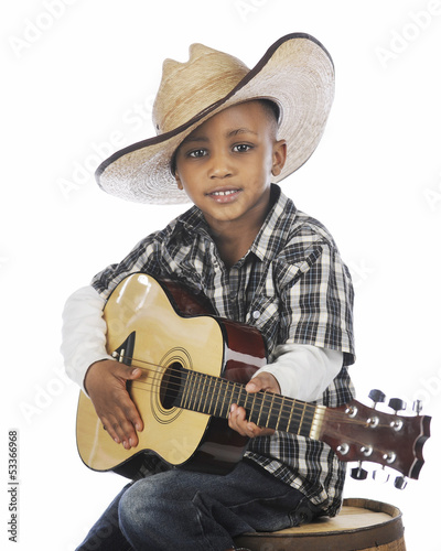 Young Strumming Cowboy