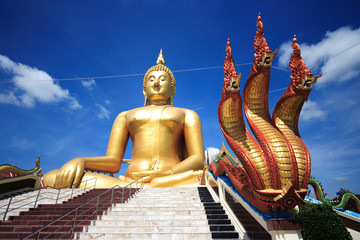 Big Buddha in temple of Thailand