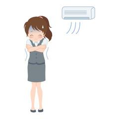 女性/エアコン