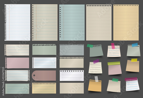 Collection of various paper vector