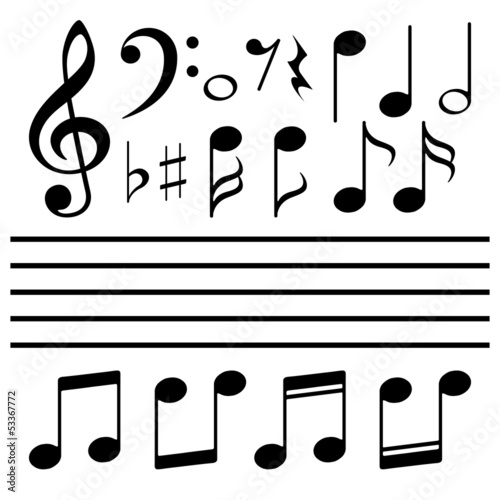 Vector icons set music note