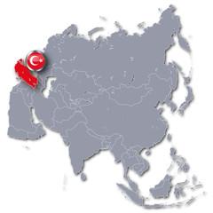 Asienkarte Türkei