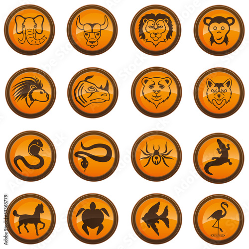 Animal icons.