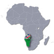 Afrikakarte mit Namibia