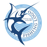 fishing logo, marlin logo