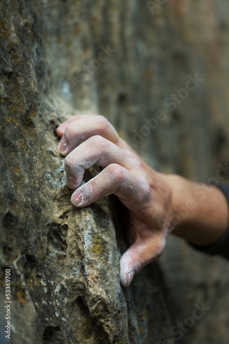 canvas print picture Climber hand