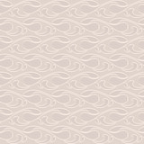 Abstract wavy beige seamless pattern
